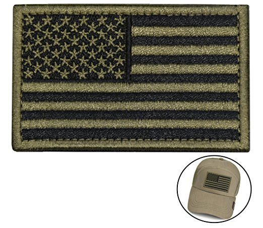 Tactical Morale Patch Usa Flag Embroidered American Flag Patch Velcro Hook Backing Emblem Black Army Green Tactical Patches Flag Patches American Flag Patch