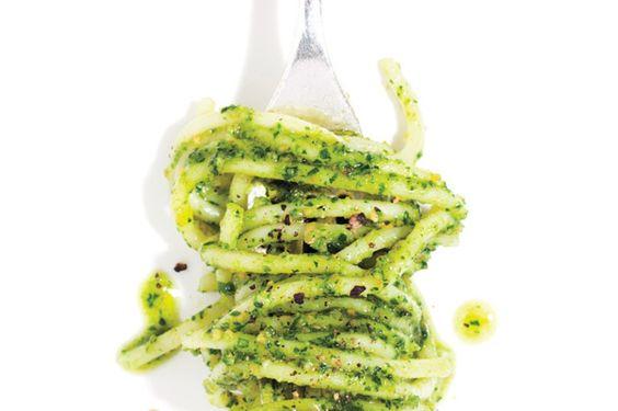 Spaghetti with Parsley Pesto