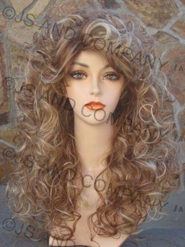 Sexy AMAZING CURLY Blonde mix Big Full hair WIG TRCA #FullWig