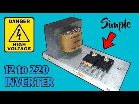 12v To 220v Inverter Circuit Using Tip3055 The Simplest