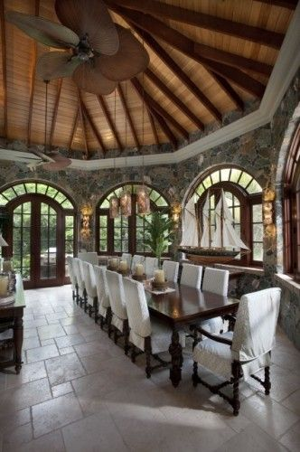 Oh baby!!!...tropical dining room by Barefoot Design Group, LLC: Dining Rooms, Dining Table, Dream House, Diningroom, Dinning Rooms, Dining Room Design, Barefoot Design