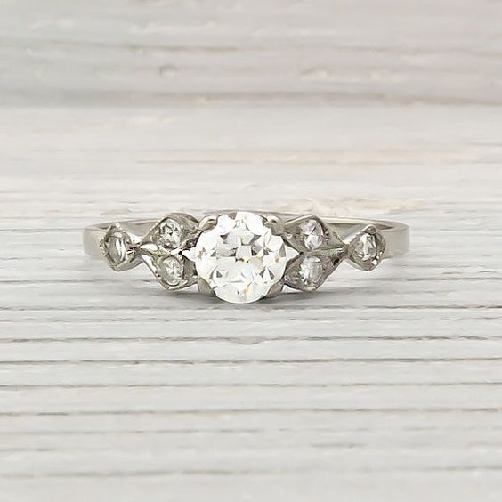 Vintage 50 Carat Diamond Engagement Ring
