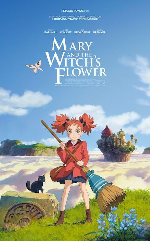 The Uk Poster For Mary And The Witch S Flower Anime Films Anime Movies Ghibli Movies