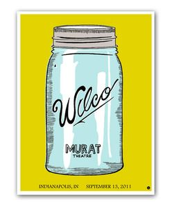 totally need this Wilco poster hanging in my kitchen $25 ... too bad it's sold out :(