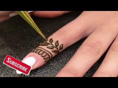نقش حناء بسيط اماراتي للأصابع Simple Mehndi Design Youtube Hand Henna Henna Hand Tattoo Mehndi Design Photos