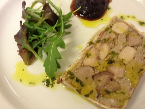 Game Terrine with a Plum and Walnut Chutney