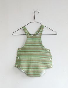 Image of green linen sunsuit