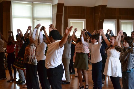 Tamarack students take a bow after performing their ballroom dance routine for our community.