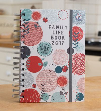 A5 Family diary 2017 Planner 2017Organizer family by Mum4Mum