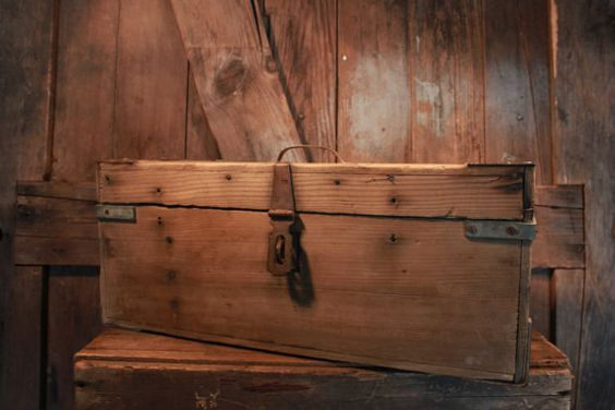 Wooden Tool Box used for Decor by LylaAndBlu on Etsy, $50.00