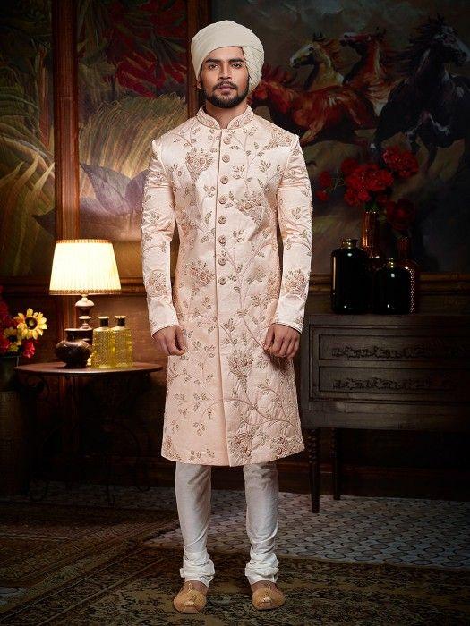 Solid Pink Designer Sherwani For Wedding Latest Designer Sherwani