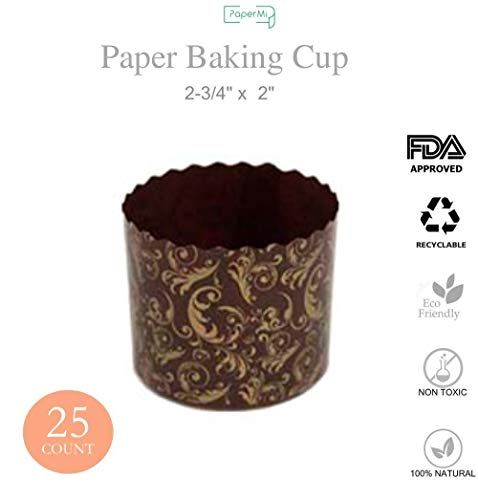 Paper Muffin Cupcake Mold Baking Cup Panettone Mold 25ct Non