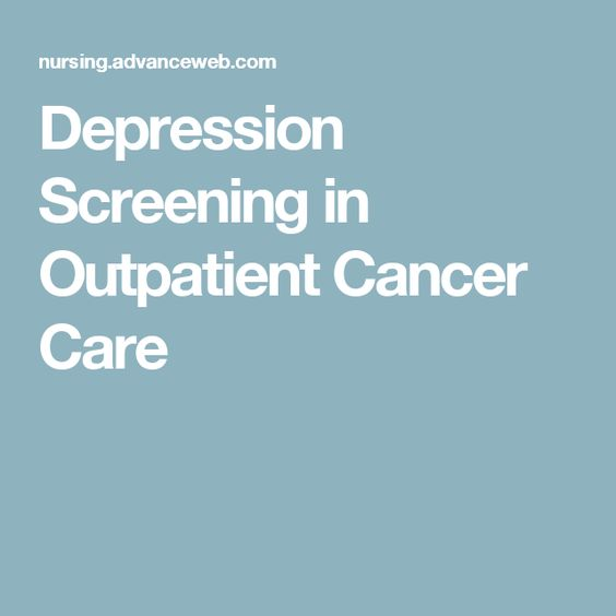 Depression Screening in Outpatient Cancer Care