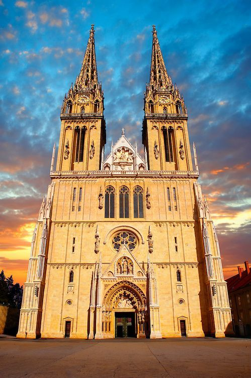 The Neo Gothic Cathedral Of The Assumption Of The Blessed Virgin Mary Zagreb Croatia Croatia Travel Croatia Croatia Croatia Beach Croatia Travel Croatia