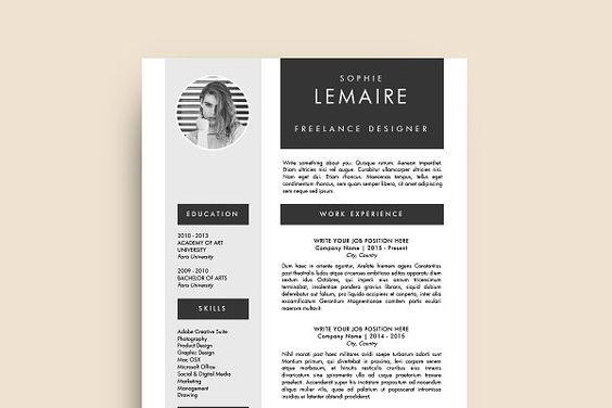 Resume Template (MS Word) Sophie CV Design #Resume #Job - microsoft resume maker