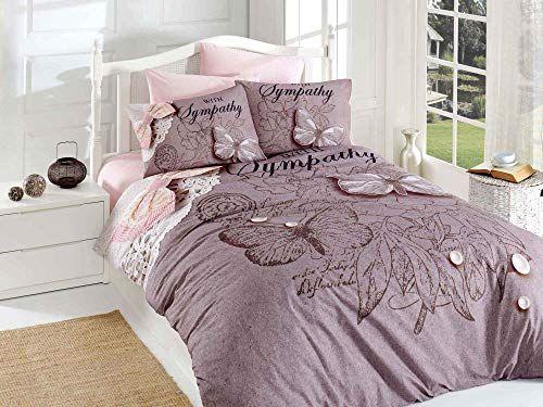 Decomood 100 Cotton Butterfly Bedding Set Butterfly Themed Quilt Duvet Cover Set Full Queen Size Duvet Cover Sets Quilted Duvet Cover Butterfly Bedding Set