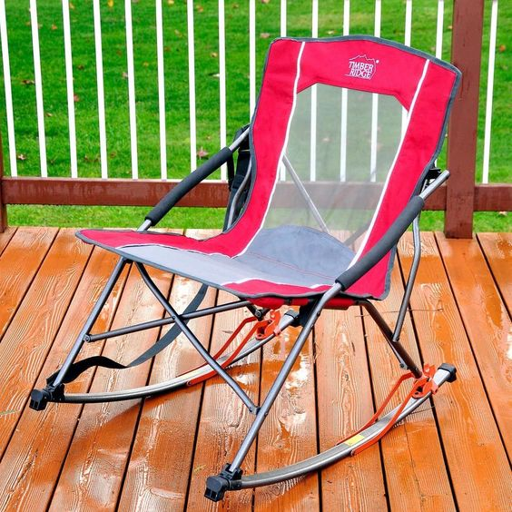 Folding Rocker Chair By Timber Ridge W Carry Bag Camping High Back Rocking Chair Home Garden Y Rocker Chairs Rocking Chairs For Sale Folding Rocking Chair