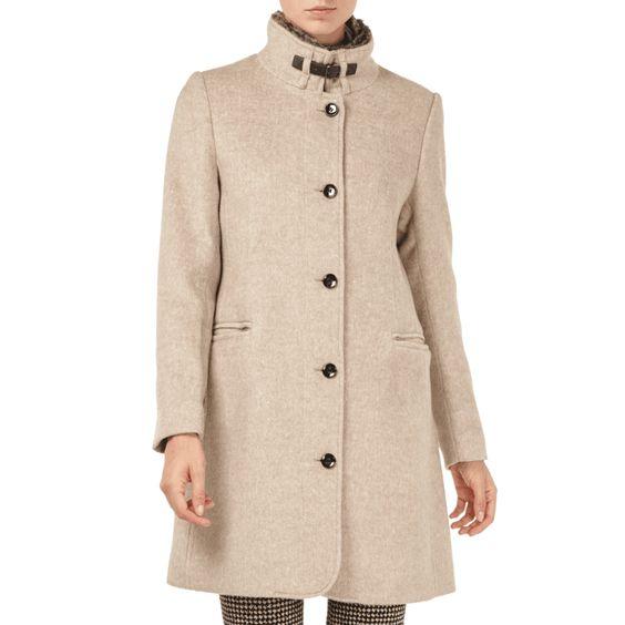   #Montego #Damen #Mantel mit #abnehmbarem #Webpelz