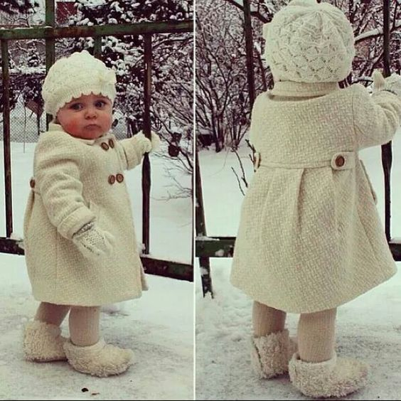 Cute stylin toddler coat, hat and booties! Love it!