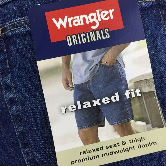 Wrangler Originals #Men'sSize32 Jean Shorts Relaxed Fit 100% Cotton Denim New #Wrangler #Denim SOLD