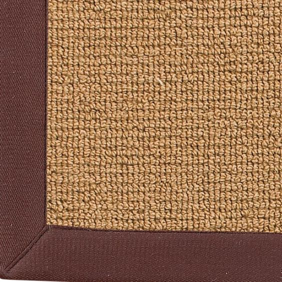 Wool Sisal w/ Cotton Twill Binding Rug: 9 Colors Available