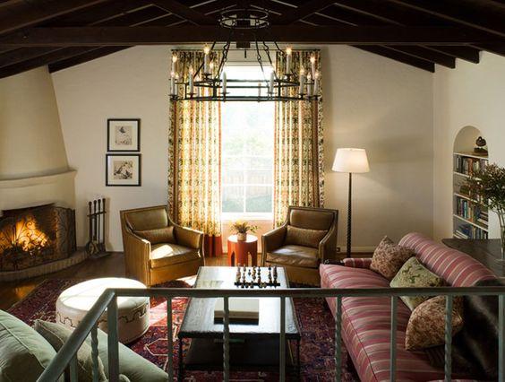 Melanie Coddington: Hillsborough residence.  Spanish Colonial style.