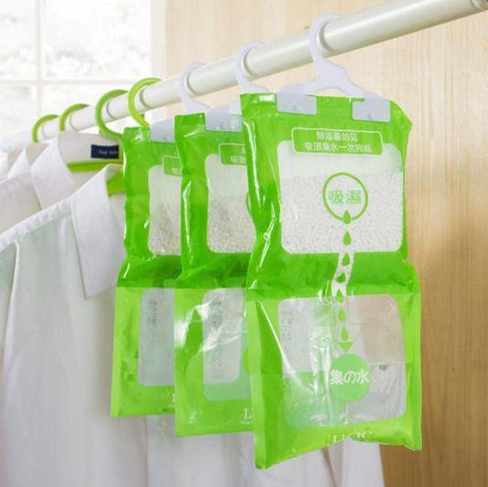 Desiccant bag household wardrobe closet hanging moisture absorbent dehumidif TK
