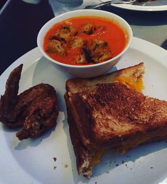 Nothing like grilled cheese and tomato soup on this freezing day. #morimotonyc #familymeal #yummy #tomatosoup #grilledcheese #confortfood by karenq11