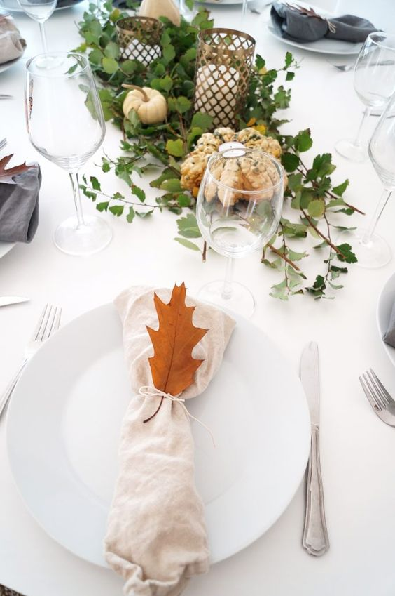 Table setting for thanks giving! #tablesetting #thanksgiving