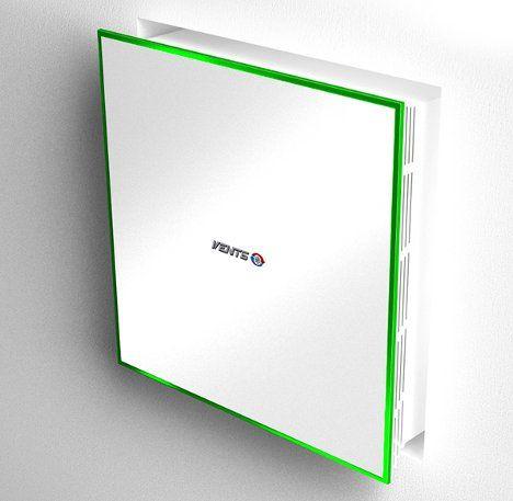 Aero Pure A716A Matte Silver / Chrome bathroom exhaust fan w/ bulb ...