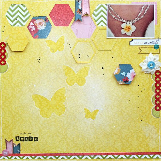 Pin Spotted: LAyout with March StudioCalico kit by Lilith eeckels