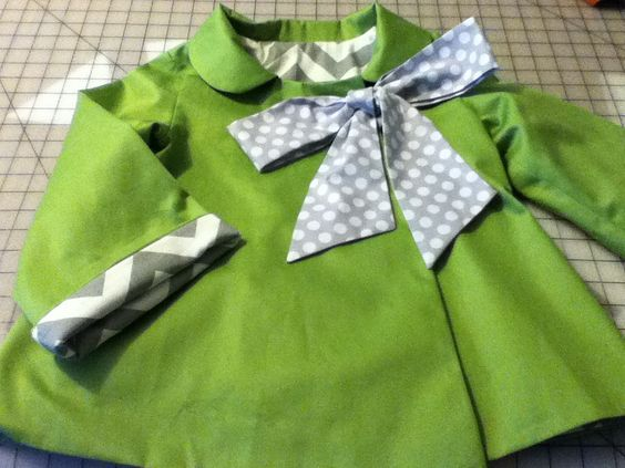 Fall Organic Cotton Green Cocktail Swing Coat, via Etsy.