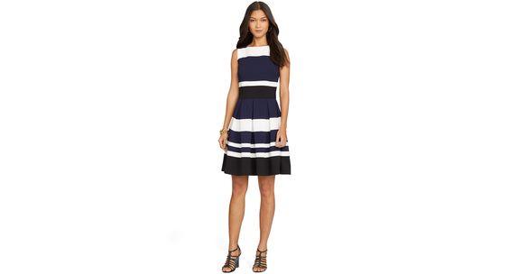 Lauren Ralph Lauren Striped Sleeveless Dress