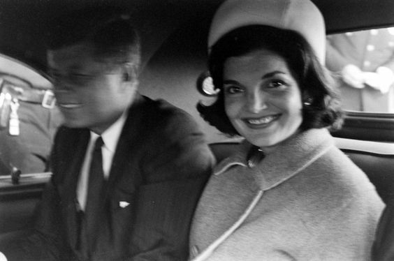john F. Kenedy and Jackie Kenedy in 1960