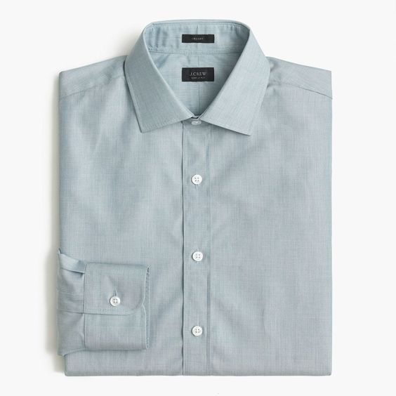 J.Crew Mens Crosby Shirt In End-On-End Cotton (Size XXL)
