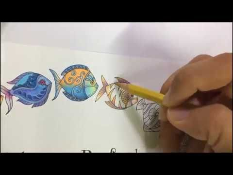 Lost Ocean By Johanna Basford How To Color Fish 2 Youtube Basford Coloring Book Lost Ocean Basford
