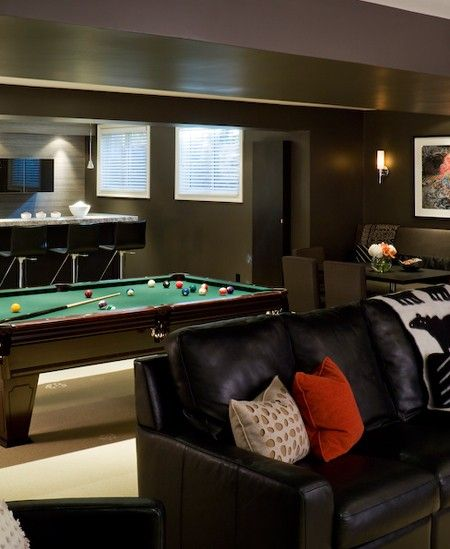 Recreation Room Design Ideas: Basement Ideas, Caves And House And Home On Pinterest