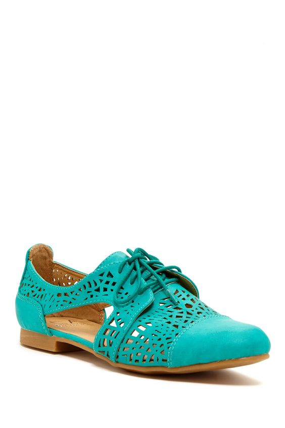 Carrini Laser Cut Oxford on HauteLook...cute closed-toe sandals for work.