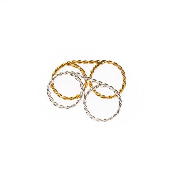 love these, so pretty!   Aviator Double Ring Pair