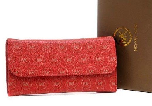 New Michael Kors Purse MK Signature Red