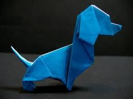 origami dog:
