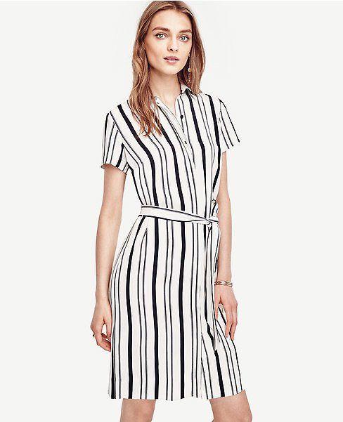 Double Stripe Shirtdress