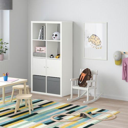 Kallax Etagere Avec Portes Blanc Ikea En 2020 Etagere Avec Porte Etagere Kallax Ikea Etagere Kallax