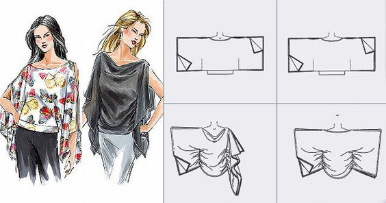 DIY no pattern top: Diy Fashion, Easy Patterns, 631 332, Diy Craft, Sewing Ideas, Diy Clothes, Sewing Patterns