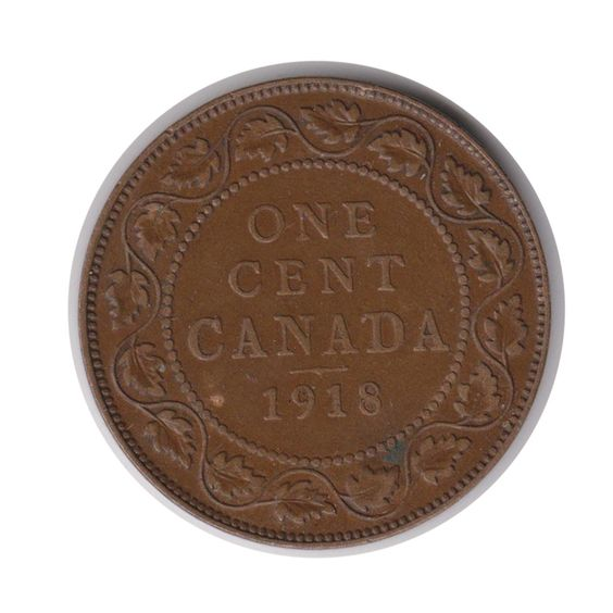 Canada One Cent 1918 Coin (Code:JMC2058) by COINSnCARDS on Etsy