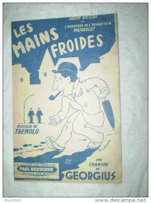 """PARTITION """"LES MAINS FROIDES""""     GEORGIUS"""