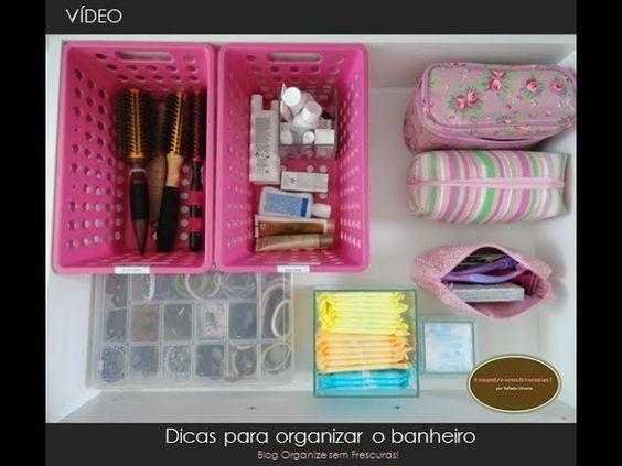 Dicas simples de organização do banheiro | Organize sem Frescuras! - http://www.decoracaodecoracao.com/dicas-simples-de-organizacao-do-banheiro-organize-sem-frescuras #decoração - #arquitetura - #paisagismo
