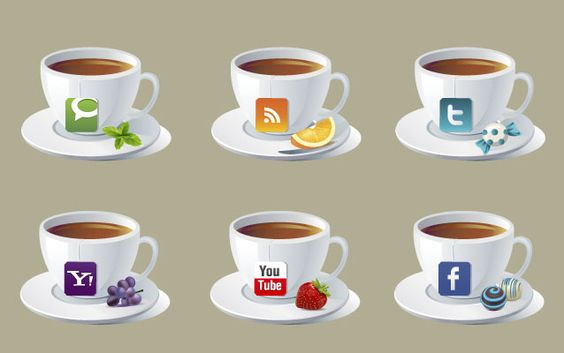 Imagery Investigation: A cute teacup set! Features Facebook, Twitter, and RSS.