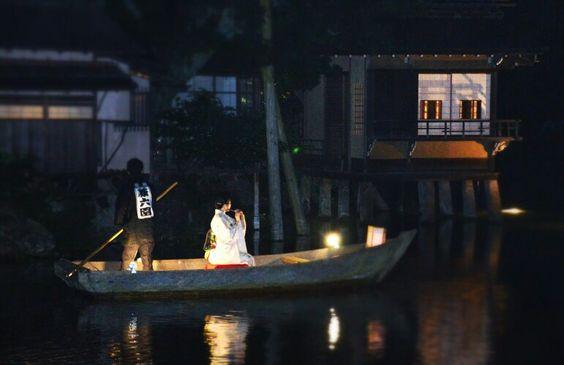 night in kenrokuen  garden