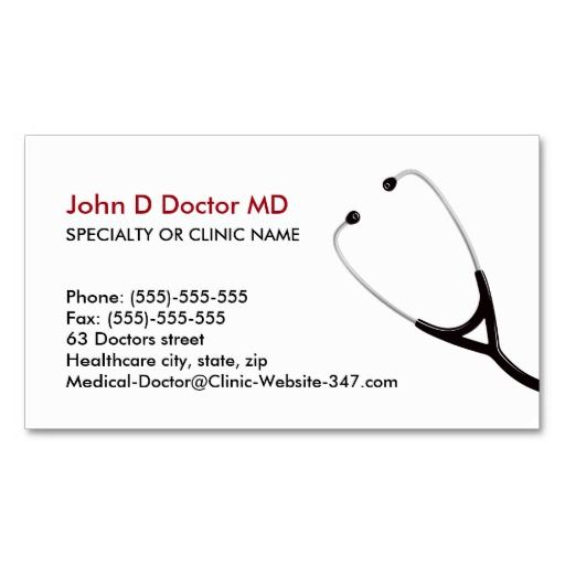 Medical doctor or healthcare business cards Cardiologist - business card template for doctors